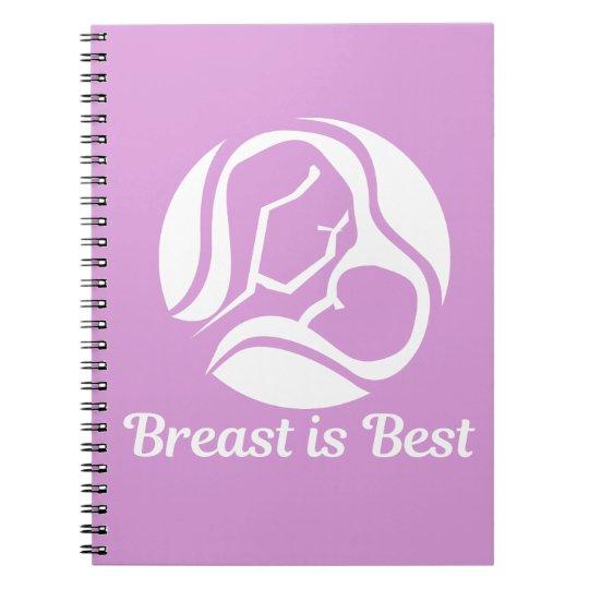 Breast Is Best Beautiful Breastfeeding Spiral Notebook