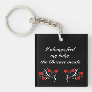 Breast Meals Double-Sided Square Acrylic Keychain