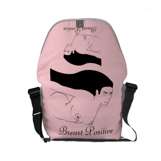 breast positive courier bag