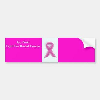 breastcancerribbon, Go Pink!Fight For Breast Ca... Bumper Sticker