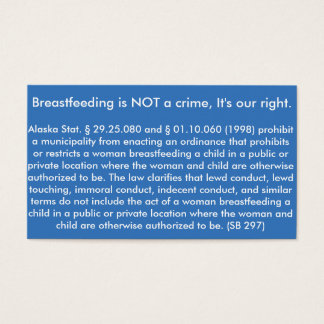 Breastfeeding Card Alaska