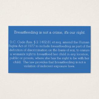 Breastfeeding Card DC