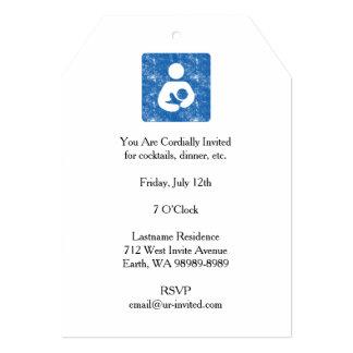 "Breastfeeding Icon Letterpress Style Texture 5"" X 7"" Invitation Card"