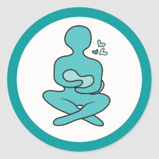 Breastfeeding Mother & Baby Round Sticker
