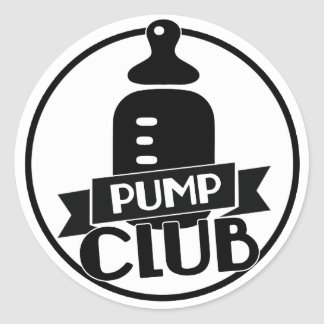 Breastfeeding Pump Club Round Sticker