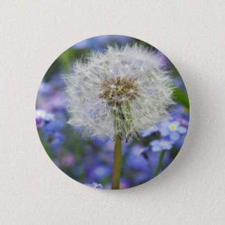 Breath flowers dream in blue forget-me-not blooms 2 inch round button