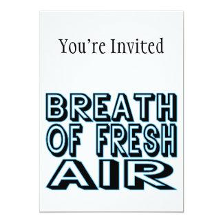 "Breath Of Fresh Air 5"" X 7"" Invitation Card"