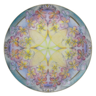 Breath of Life Mandala Art Plate