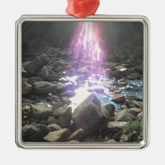 Breath-taking Inspiration Silver-Colored Square Ornament