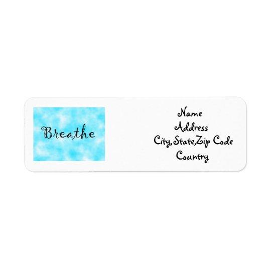 Breathe-address label return address label