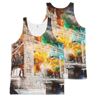 Breathe Again London Dreams All-Over-Print Tank Top