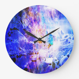 Breathe Again Yule Night Dreams Large Clock