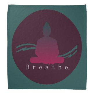 """Breathe"" Beautiful Buddha. Bandana"