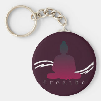 """Breathe"" Beautiful Buddha. Keychain"