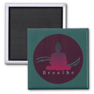 """Breathe"" Beautiful Buddha Magnet. Magnet"