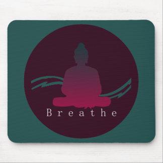 """""""Breathe"""" Beautiful Buddha. Mouse Pad"""