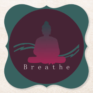 """Breathe"" Beautiful Buddha. Paper Coaster"