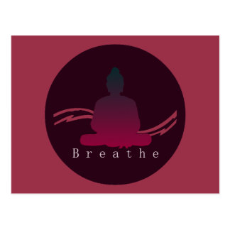 """Breathe"" Beautiful Buddha postcard"