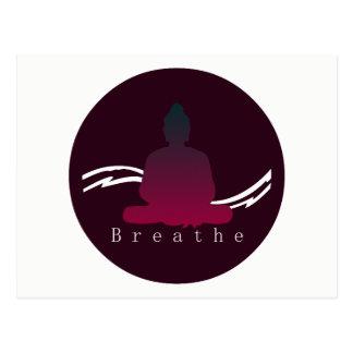 """Breathe"" Beautiful Buddha postcard"