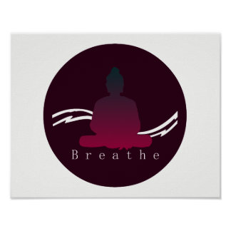 """Breathe"" Beautiful Buddha. Poster"