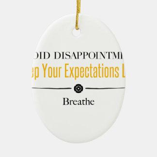 Breathe Ceramic Ornament