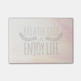 Breathe Deep Post-it Notes