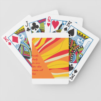 breathe deeply bicycle playing cards