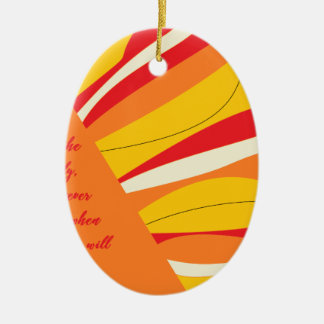 breathe deeply ceramic ornament
