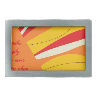 breathe deeply rectangular belt buckle