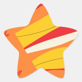 breathe deeply star sticker