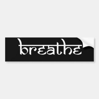 Breathe Design on Sanskrit Style Bumper Sticker