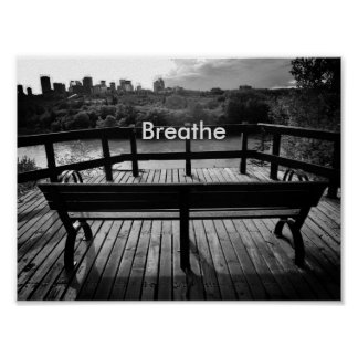 Breathe encouragement poster
