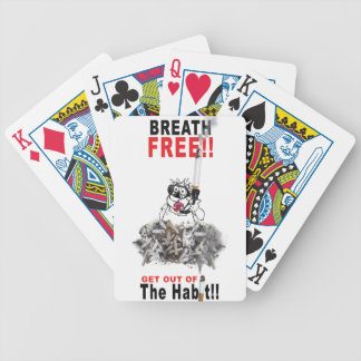 Breathe Free - STOP SMOKING Bicycle Playing Cards