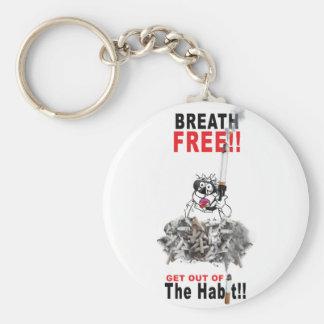 Breathe Free - STOP SMOKING Keychain