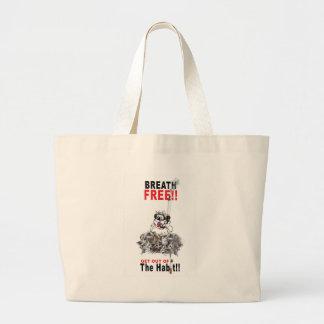 Breathe Free - STOP SMOKING Large Tote Bag