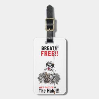 Breathe Free - STOP SMOKING Luggage Tag