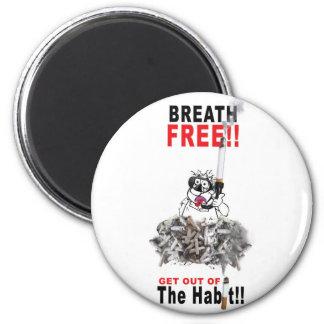 Breathe Free - STOP SMOKING Magnet