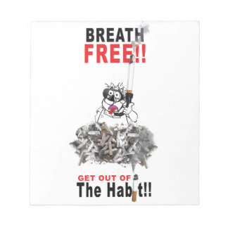 Breathe Free - STOP SMOKING Notepad