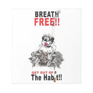 Breathe Free - STOP SMOKING Notepads