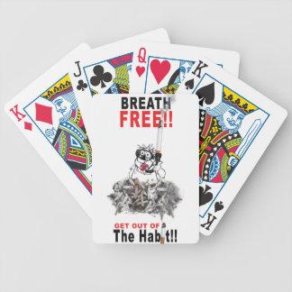 Breathe Free - STOP SMOKING Poker Deck