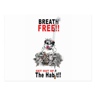Breathe Free - STOP SMOKING Postcard
