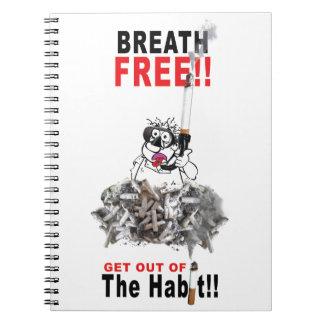 Breathe Free - STOP SMOKING Spiral Notebook