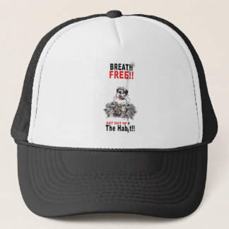 Breathe Free - STOP SMOKING Trucker Hat