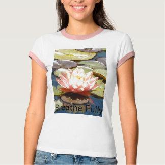Breathe Fully  Pink Lotus T-Shirt