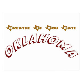 Breathe If You Hate Oklahoma Postcard
