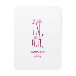 Breathe in breathe out Motivational Glitter Quote Rectangular Photo Magnet