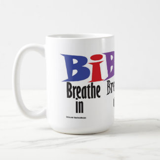 Breathe in, breathe out, move on - mug