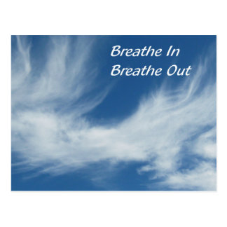 Breathe In Breathe Out Postcard
