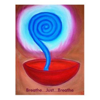 Breathe Just Breathe postcard