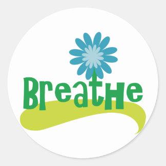 Breathe Round Sticker